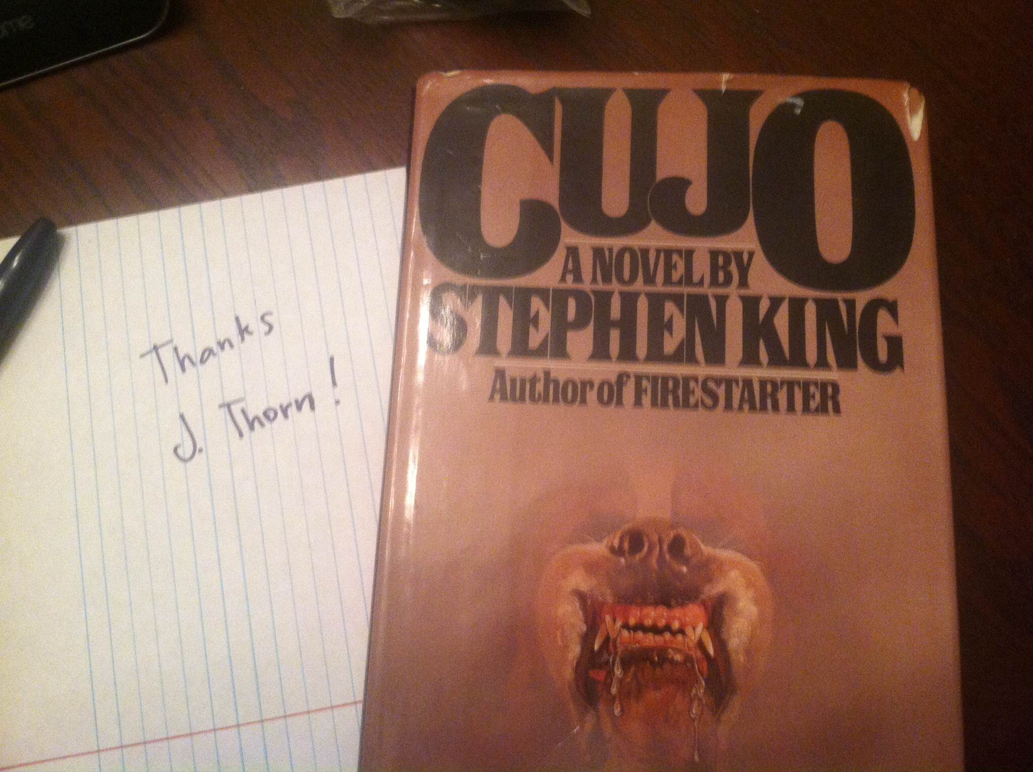 Stephen King Cujo_Winner